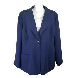 Bob Mackie Studio Women Jacket Blazer Blue  18W